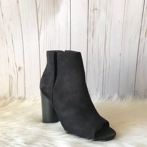 Cut Out Peep Toe Bootie